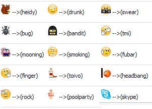 Stylish emoticons