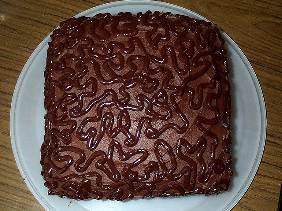 Unique chocolate cake