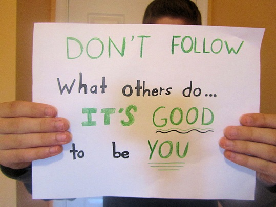 Don't follow what others do inspirational quotes