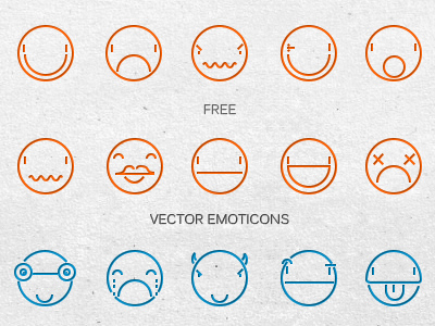 Vector facebook emoticons