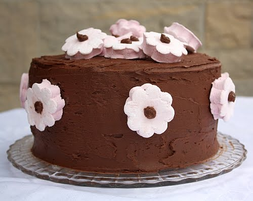 Flowers chocolate cake