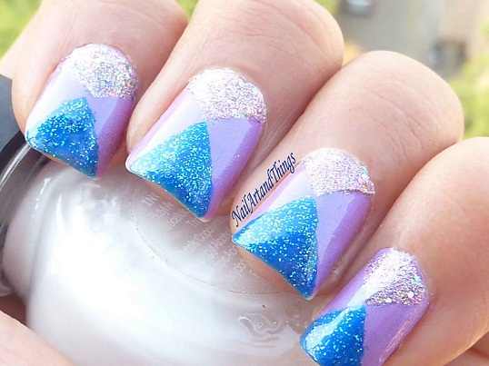 Shiny nail arts