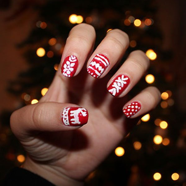 Red Style nail art