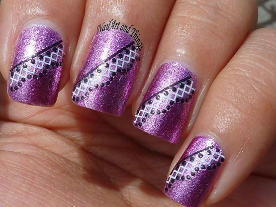 Pink Art nail art