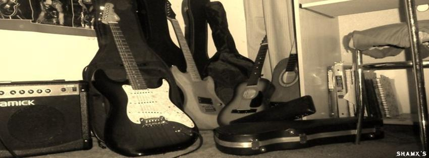 Guitar facebook cover photo