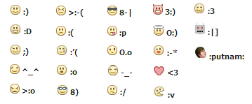 Cool facebook emoticons