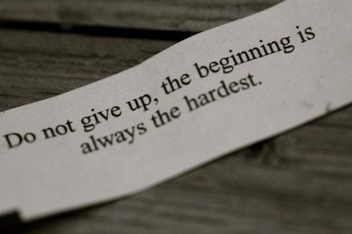 Do not give up inspirational quote about life