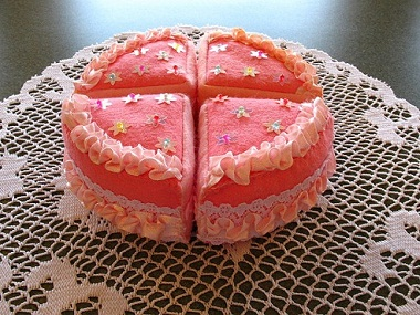 Pieces cake