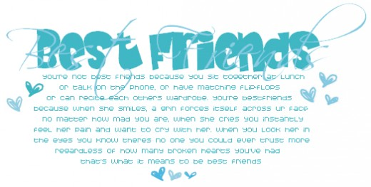 Best Friends friendship poems