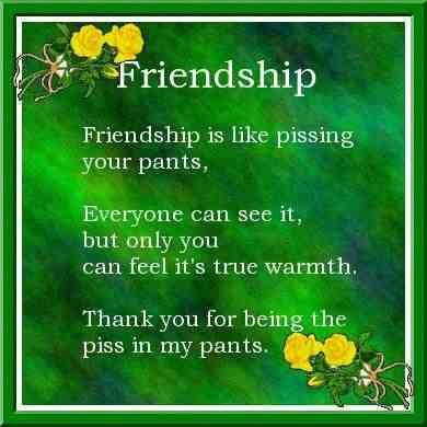 Friendship friendship poem