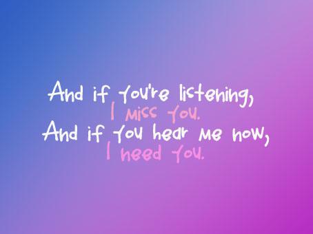 I Need You i miss you