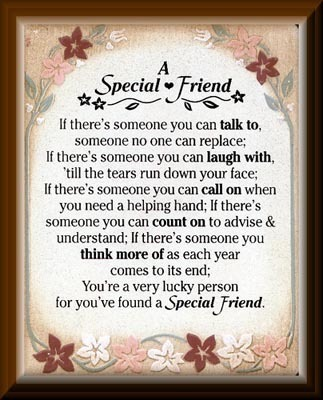 A special friend friendship poems