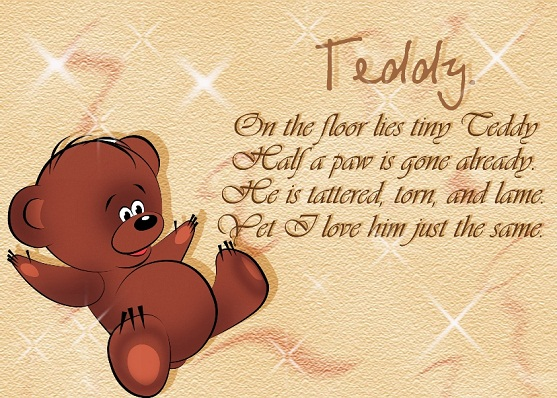 You Are My Teddy love poems