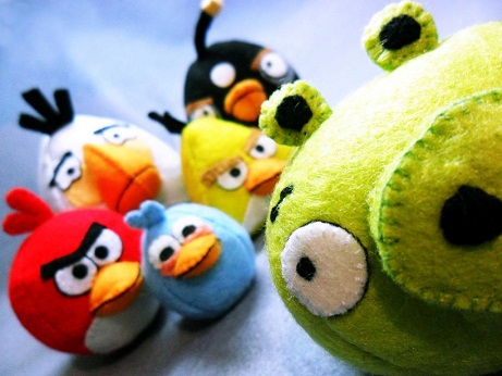 Colorful angry birds