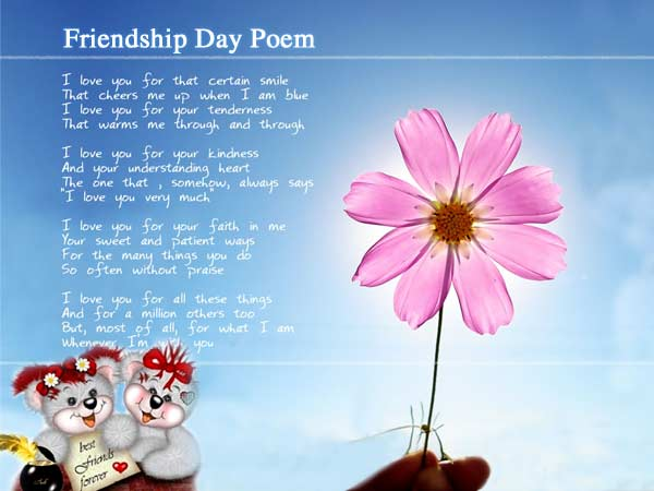 Friendship Day Poem friendship poems