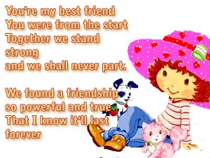 You're my best friend friendship poems