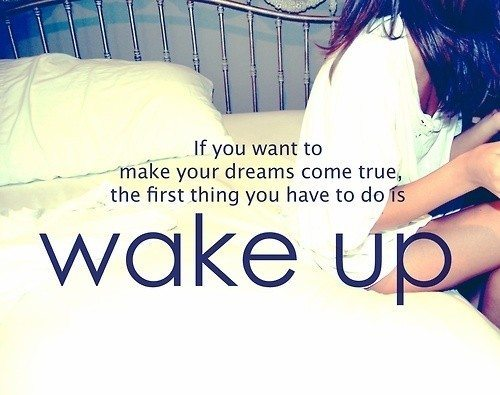 If you want to make your dreams come true, the first thing you have to do is wake up daily quotes