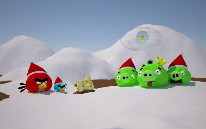 Angry Snow angry birds pictures