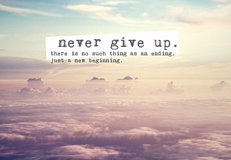 Never Give Up daily quote