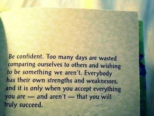 Be Confident daily quote
