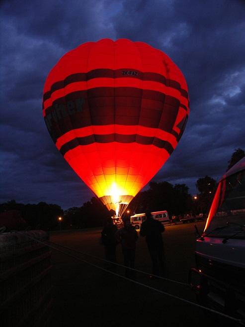 Romantic hot air balloon