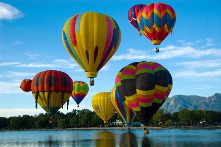 Classic hot air balloon