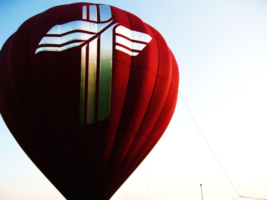 Huge hot air balloon