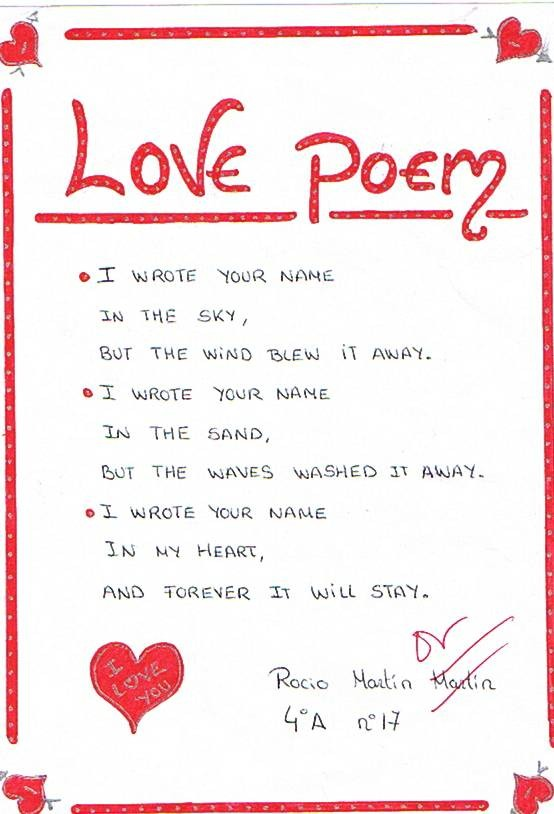 For You love poems
