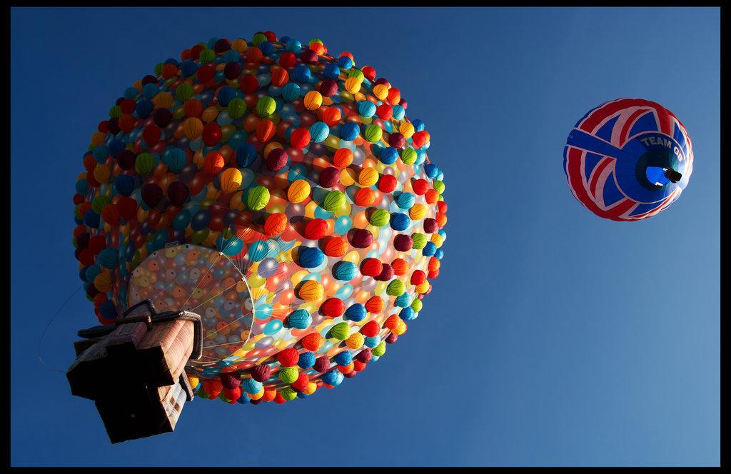 Beauty hot air balloon
