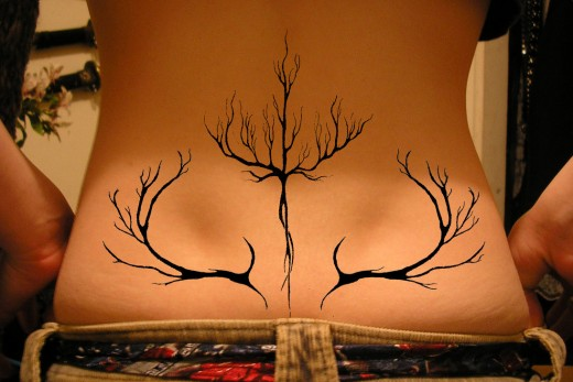 Tree Design tattoo designs for women