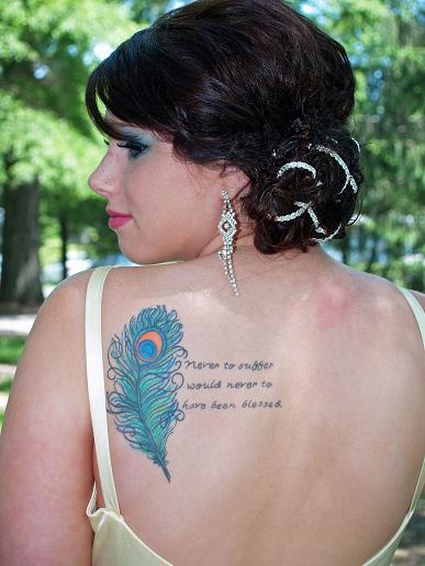 With Quote tattoo designs for women