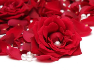Rose And Beads red roses