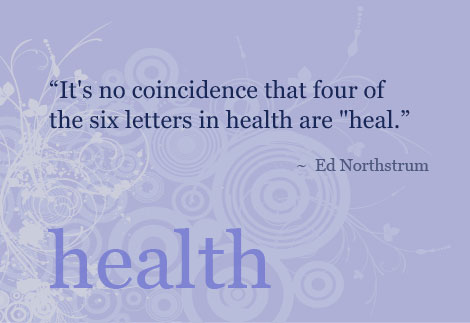 It's no coincidence health quotes