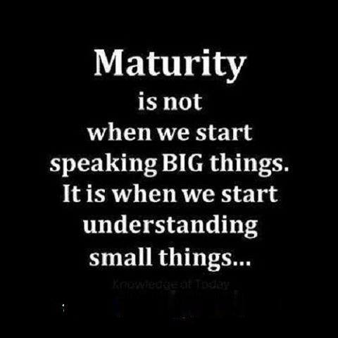 Maturity good quotes about love