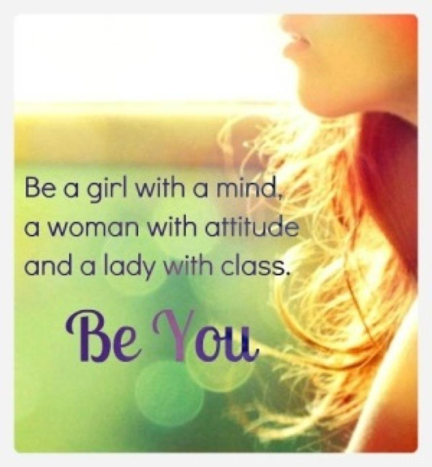 Be a girl with mind beauty quotes