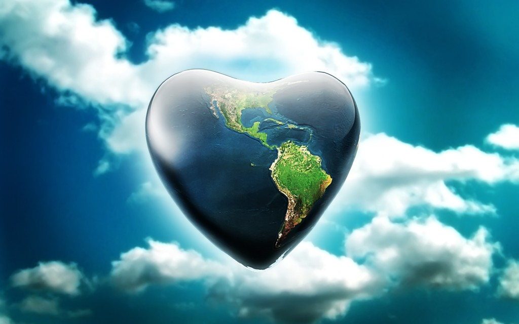 Heart earth wallpapaers