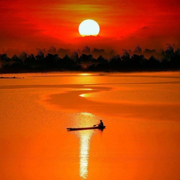 Splendid sunset photography