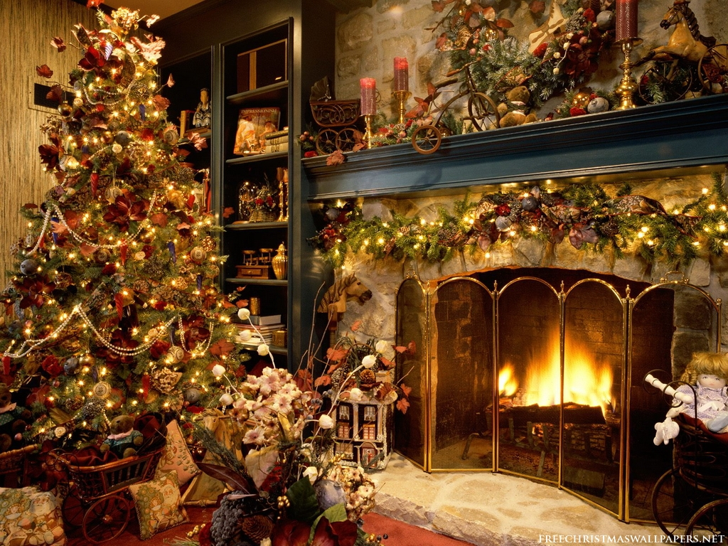 20 Hot Looking Christmas Tree : Christmas Tree Fireplace 1024 127315 from funlava.com size 1024 x 768 jpeg 841kB