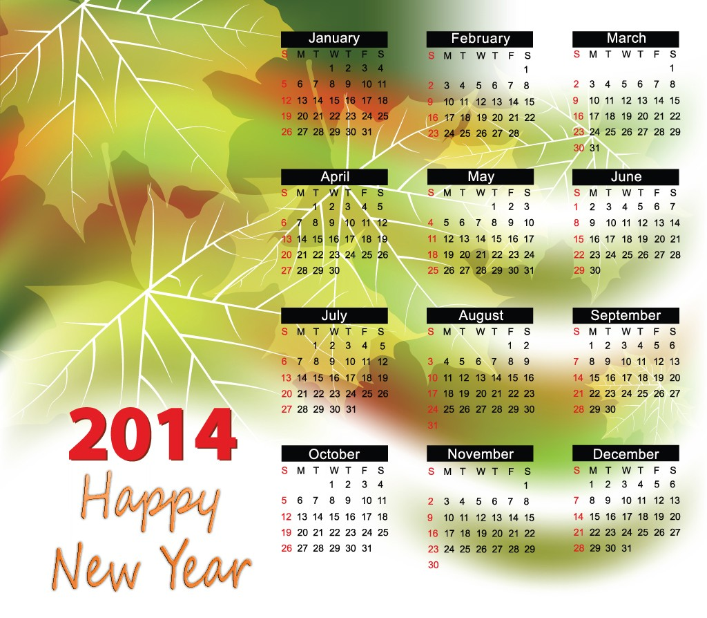 New Year Calender new year images 2014