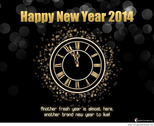 New Year Clock happy new year images 2014