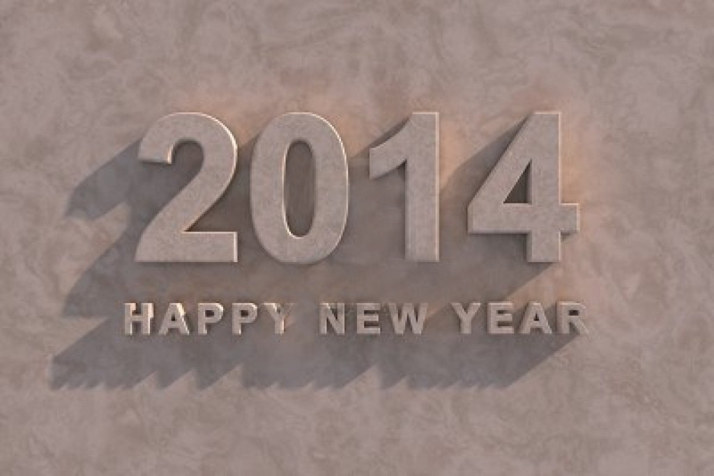 New Year Greeting - Gray new year greetings 2014