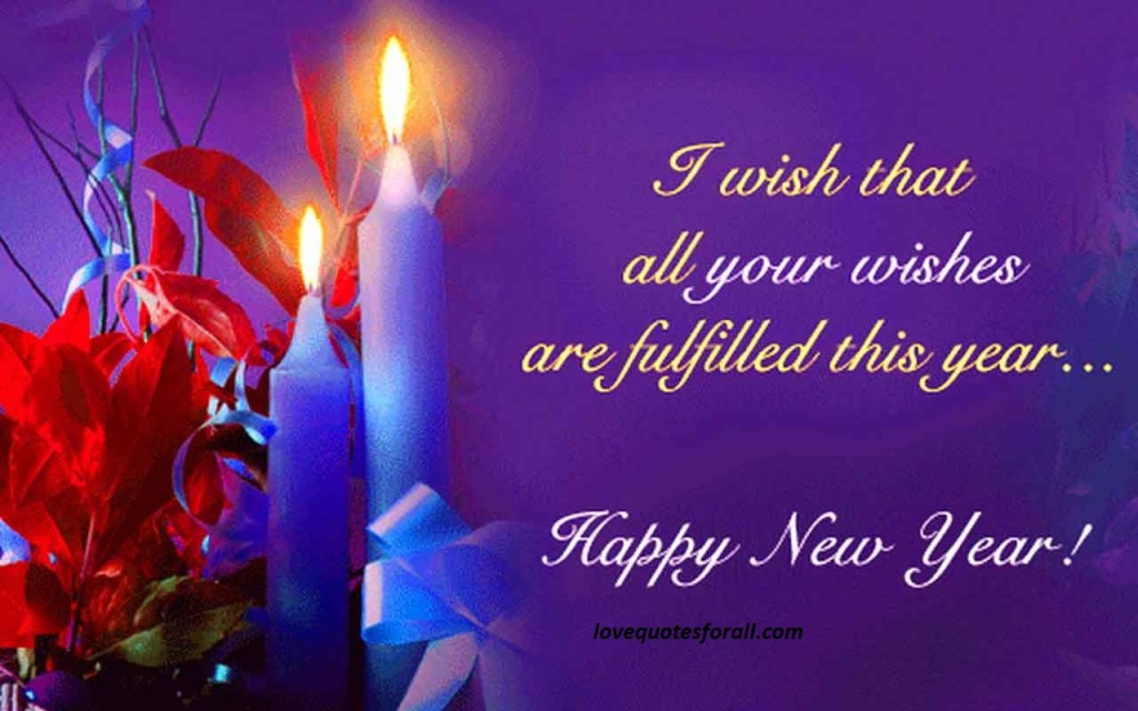 Fulfill Your Wishes new year greetings