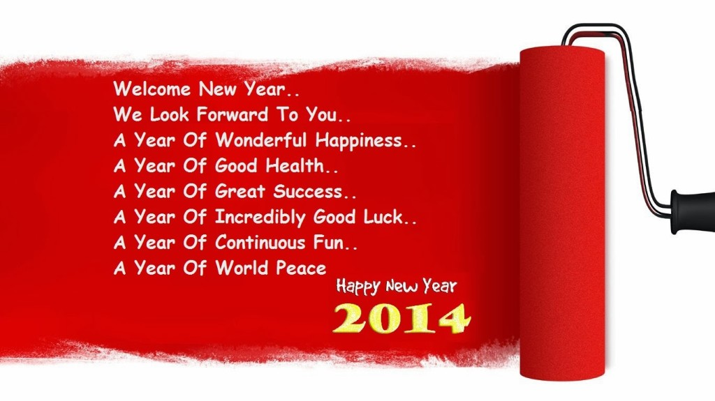 Welcome New Year new year wish