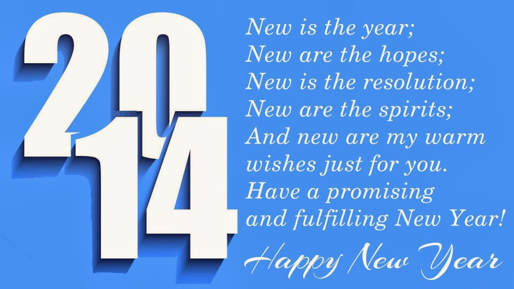 New is the Year new year wish