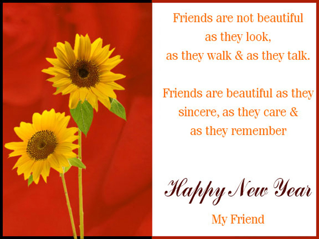 For Friends new year greeting