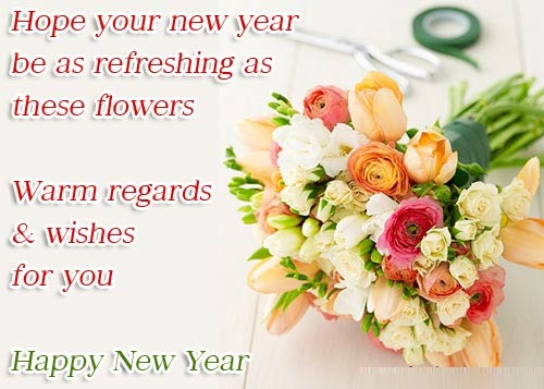 Refreshing As Flower new year greetings