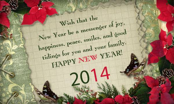 messenger of joy new year greetings