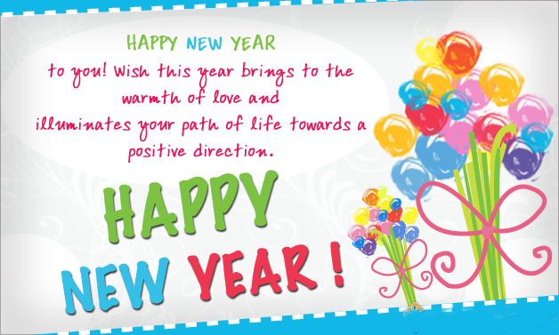 Positive Direction new year greeting
